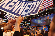 Sen. Ted Kennedy is seen during the Democratic National Committee Convention at the Fleet Center in Boston, MA. 7/27/2004