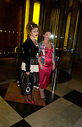 Helena Bonham-Carter and Lulu Guinness. Party to celebrate the publication of 'Put On Your Pearl Girls!' by Lulu Guinness at the V&A museum, London. 5 May 2005. ONE TIME USE ONLY - DO NOT ARCHIVE  © Copyright Photograph by Dafydd Jones 66 Stockwell Park Rd. London SW9 0DA Tel 020 7733 0108 www.dafjones.com