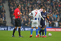 Football - 2018 / 2019 Emirates FA Cup - Fifth Round: Brighton and Hove Albion vs. Derby County<br /> <br /> Harry Wilson of Derby checks on Beram Kayal of Brighton after leaving his foot in his midriff during the FA Cup tie at The Amex Stadium Brighton  <br /> <br /> COLORSPORT/SHAUN BOGGUST