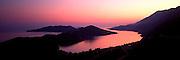 TURKEY, SOUTH COAST, MEDITERRANEAN Mediterranean coastline of beaches, small inlets and rugged mountains near Kas, west of Antalya