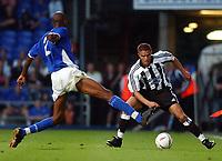 Fotball<br /> Foto: Daniel Hambury, Digitalsport<br /> NORWAY ONLY<br /> <br /> Ipswich Town v Newcastle United<br /> Pre season friendly.  28/07/04<br /> <br /> Ipswich Town's Drissa Diallo and Newcastle United's Laurent Robert