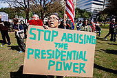 President's Day Anti-Trump Protest Austin Tx