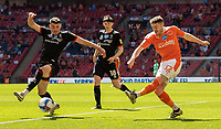 Blackpool's Elliot Embleton crosses <br /> <br /> Photographer Andrew Kearns/CameraSport<br /> <br /> The EFL Sky Bet League One Play-Off Final - Blackpool v Lincoln City - Sunday 30th May 2021 - Wembley Stadium - London<br /> <br /> World Copyright © 2021 CameraSport. All rights reserved. 43 Linden Ave. Countesthorpe. Leicester. England. LE8 5PG - Tel: +44 (0) 116 277 4147 - admin@camerasport.com - www.camerasport.com
