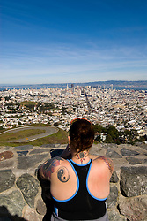 San Francisco: View of Downtown from Twin Peaks. Photo 11-casanf77594 Photo copyright Lee Foster.