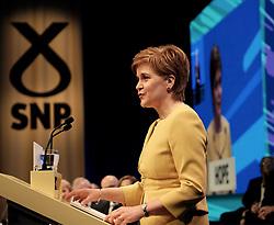 SNP Spring Conference, Sunday 28th April 2019<br /> <br /> Pictured: First Minister Nicola Sturgeon<br /> <br /> Alex Todd   Edinburgh Elite media