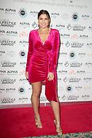 Imogen Thomas  on the red carpet for the Lifestyle Awards 2021, at the Landmark Hotel Marylebone, London.