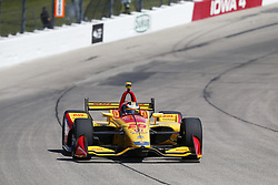 July 7, 2018 - Newton, Iowa, United States of America - RYAN HUNTER-REAY (28) of the United States takes to the track to practice for the Iowa Corn 300 at Iowa Speedway in Newton, Iowa. (Credit Image: © Justin R. Noe Asp Inc/ASP via ZUMA Wire)