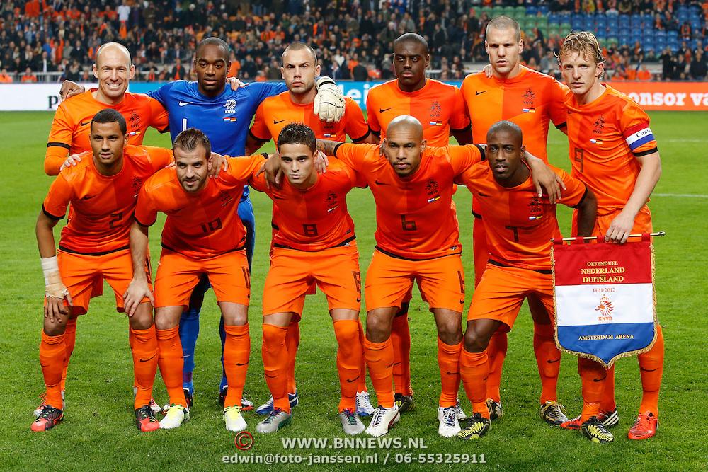 NLD/Amsterdam/20121114 - Vriendschappelijk duel Nederland - Duitsland, teamfoto