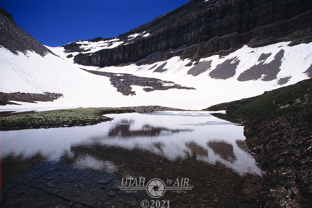 Glacier Lake on the northern slope of Mt. Timpanogos, Utah
