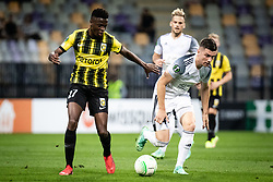Romaric Yapi of Vitesse and Mihael Klepac of NS Mura  during football match between NS Mura and Vitesse (NED) in 1st round of UEFA Europa Conference League 2021/22, on 16 of September, 2021 in Ljudski Vrt, Maribor, Slovenia. Photo by Blaž Weindorfer / Sportida