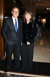 LOYD GROSSMAN the food critic and SARAH MILLER at the Tatler Restaurant Awards in association with Champagne Louis Roederer held at the Four Seasons Hotel, Hamilton Place, London W1 on 10th January 2005.<br /><br /><br />NON EXCLUSIVE - WORLD RIGHTS