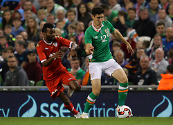 Ireland's Callum O'Dowda in action against Oman's Harib Jamil Zaid Al Saadi - Mandatory by-line: Ken Sutton/JMP - 31/08/2016 - FOOTBALL - Aviva Stadium - Dublin,  - Republic of Ireland v Oman -