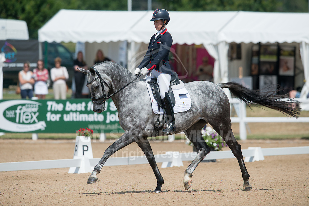 Charlotte Dujardin (GBR) & Florentina VI - Shearwater Young Dressage Horse Championship - 5 year old horses<br />  - Hartpury Festival of Dressage - Hartpury, Gloucestershire, United Kingdom - July 2015