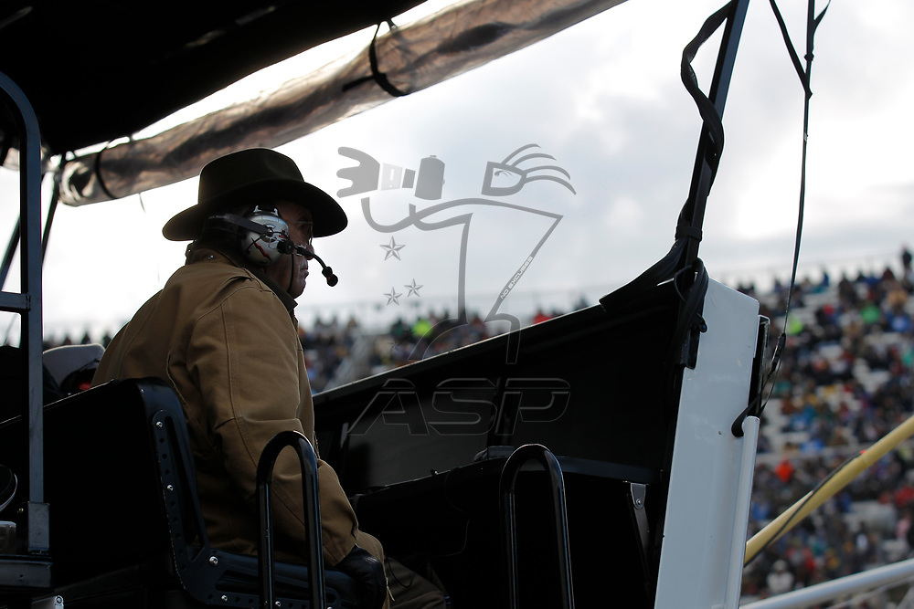 October 29, 2017 - Martinsville, Virginia, USA: Trevor Bayne (6) car owner Jack Roush watches the First Data 500 at Martinsville Speedway in Martinsville, Virginia.