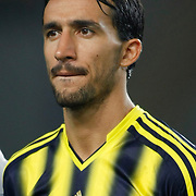 Fenerbahce's Mehmet Topal during the UEFA Champions League Play-Offs First leg soccer match Fenerbahce between Arsenal at Sukru Saracaoglu stadium in Istanbul Turkey on Wednesday 21 August 2013. Photo by Aykut AKICI/TURKPIX