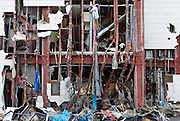 Effects of the tsunami that struck north east Japan on March 11th Kamaishi,, Iwate, Japan. March 17th 2011