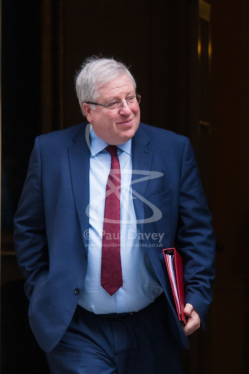 London, March 10th 2015. Ministers arrive at the weekly cabinet meeting at 10 Downing Street. PICTURED: Patrick McLoughlin, Secretary of State for Transport
