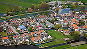 Nederland, Noord-Holland, Gemeente Schermer, 28-04-2010; Schermerhorn met Hervormde kerk.luchtfoto (toeslag), aerial photo (additional fee required).foto/photo Siebe Swart