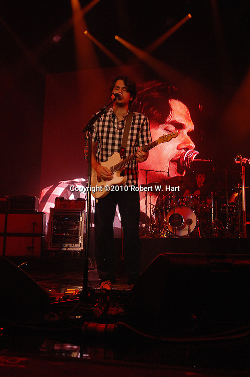 Musician John Mayer performs Friday, September 4, 2010 evening at the Superpages.com Center in Dallas, Texas.