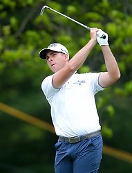 May 19, 2019 - Farmingdale, NY, U.S. - FARMINGDALE, NY - MAY 19: Luke List of the United States takes a tee shot during the Final Round of the 2019 PGA Championship, on the Black Course, Bethpage State Park, in Farmingdale, NY. (Photo by Joshua Sarner/Icon Sportswire) (Credit Image: © Joshua Sarner/Icon SMI via ZUMA Press)