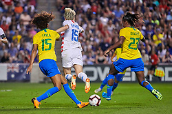 August 2, 2018 - Bridgeview, Illinois, United States - Bridgeview, IL - Thursday August 02, 2018: 2018 Tournament of Nations match between the women's national teams of the United States (USA) and Brazil (BRA) at Toyota Park. (Credit Image: © Robin Alam/ISIPhotos via ZUMA Wire)