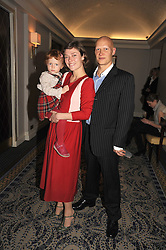 Actress CAMILLA RUTHERFORD, her daughter MAUD and DOMINIC BURNS at the In Style Handbag Auction is association with Revlon raising money for the Rainbow Trust children's charity held at the Berkeley Hotel, Knightsbridge, London on 4th November 2008.