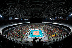 Arena Stozice during the volleyball match between ACH Volley (SLO) and Jastrzebski Wegiel (POL) in 6th Round of 2011 CEV Champions League, on January 12, 2011 in Arena Stozice, Ljubljana, Slovenia. (Photo By Vid Ponikvar / Sportida.com)