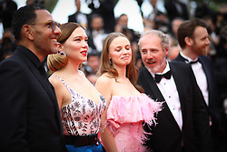 Sara Forestier, Director Arnaud Desplechin, Lea Seydoux, Antoine Reinartz, Roschdy Zem, Chloe Simoneau, Guest and Jeremy Brunet attend the screening of Oh Mercy! (Roubaix, une Lumiere) during the 72nd annual Cannes Film Festival on May 22, 2019 in Cannes, France. Photo by Shootpix/ABACAPRESS.COM
