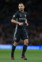 5th December 2017 - UEFA Champions League - Group A - Manchester United v CSKA Moscow - Sergey Ignashevich of CSKA - Photo: Simon Stacpoole / Offside.