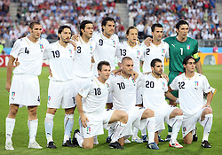 Team Italy during the UEFA EURO 2008 Quarter-Final soccer match between Spain and Italy at Ernst-Happel Stadium, on June 22,2008, in Wien, Austria. Spain won after penalty shots 4:2. (Photo by Vid Ponikvar / Sportal Images)