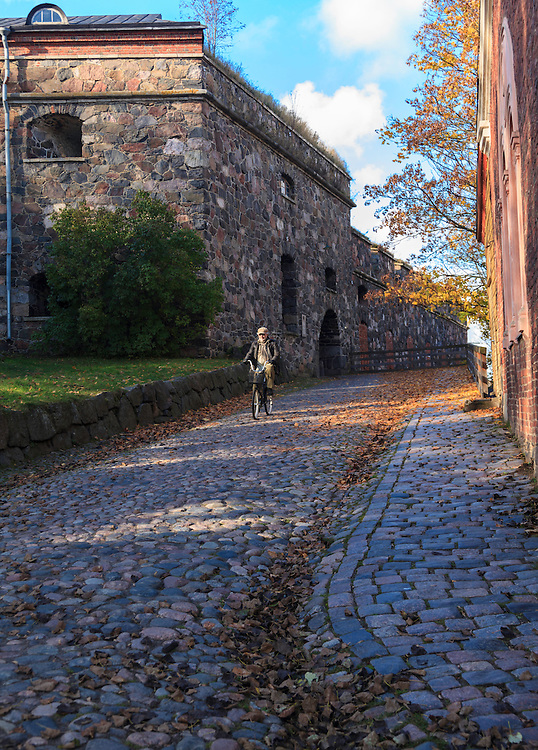 A maritime fortress Suomenlinna in Helsinki, Finland. Today, it is a UNESCO World Heritage Site and one of Finland's most popular tourist attractions.