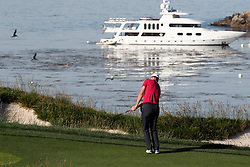 June 11, 2019 - Pebble Beach, CA, U.S. - PEBBLE BEACH, CA - JUNE 11: PGA golfer Martin Kaymer plays the 4th hole during a practice round for the 2019 US Open on June 11, 2019, at Pebble Beach Golf Links in Pebble Beach, CA. (Photo by Brian Spurlock/Icon Sportswire) (Credit Image: © Brian Spurlock/Icon SMI via ZUMA Press)