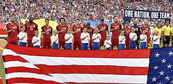 June 8, 2017 - Commerce City, Colorado, United States - Commerce City, CO - Thursday June 08, 2017: The USMNT starting eleven during their 2018 FIFA World Cup Qualifying Final Round match versus Trinidad & Tobago at Dick's Sporting Goods Park. (Credit Image: © John Todd/ISIPhotos via ZUMA Wire)