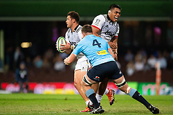 March 23, 2019 - Sydney, NSW, U.S. - SYDNEY, NSW - MARCH 23: Crusaders player David Havili (15) runs behind his player and gives away a penalty at round 6 of Super Rugby between NSW Waratahs and Crusaders on March 23, 2019 at The Sydney Cricket Ground, NSW. (Photo by Speed Media/Icon Sportswire) (Credit Image: © Speed Media/Icon SMI via ZUMA Press)