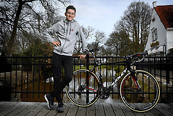 March 30, 2018 - Kasterlee, Belgium - Belgian Tiesj Benoot of Lotto Soudal poses for the photographer after a press conference, ahead of Sunday's 'Ronde van Vlaanderen 2018 - Tour des Flandres - Tour of Flanders' one day cycling race. (Credit Image: © Yorick Jansens/Belga via ZUMA Press)