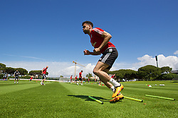 VALE DO LOBO, PORTUGAL - Wednesday, May 25, 2016: Wales' Hal Robson-Kanu during day two of the pre-UEFA Euro 2016 training camp at the Vale Do Lobo resort in Portugal. (Pic by David Rawcliffe/Propaganda)