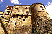 Southern France, Aubai, Medieval Village, Stone Hillside Buildings,