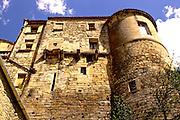 Southern France, Aubai, Medieval Village, Stone Hillside Buildings,