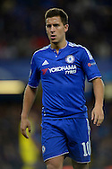 Eden Hazard of Chelsea looking on. UEFA Champions League group G match, Chelsea v Maccabi Tel Aviv at Stamford Bridge in London on Wednesday 16th September 2015.<br /> pic by John Patrick Fletcher, Andrew Orchard sports photography.