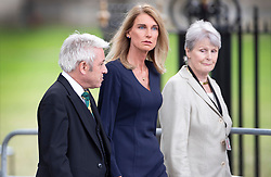 © Licensed to London News Pictures. 10/09/2019. London, UK. Speaker John Bercow and his wife Sally Bercow (C) attend a memorial service for Lord Paddy Ashdown at Westminster Abbey in central London. Photo credit: Peter Macdiarmid/LNP