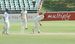 Johannesburg 20-12-18. South Africa Invitation XI vs Pakistan three-day match at Sahara Willowmoore Park, Benoni. Day 2.  South African bowler Onke Nyaka during the afternoon session. Picture: Karen Sandison/African News Agency(ANA)