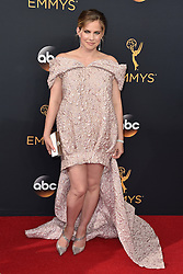 Anna Chlumsky attends the 68th Annual Primetime Emmy Awards at Microsoft Theater on September 18, 2016 in Los Angeles, CA, USA. Photo by Lionel Hahn/ABACAPRESS.COM