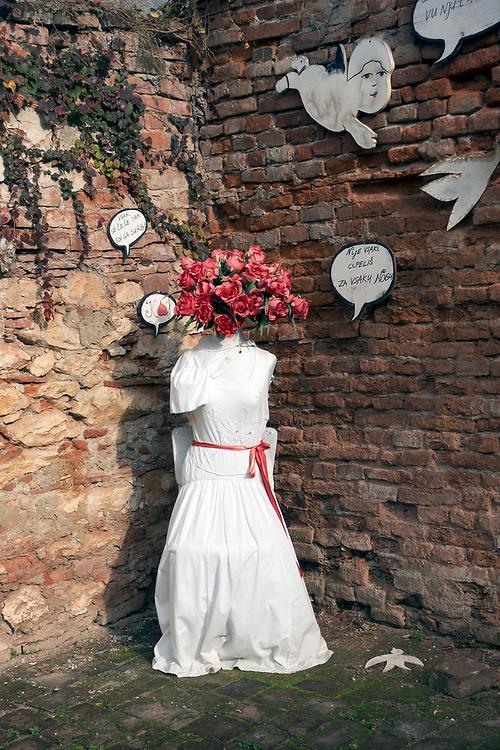 Burim Myftiu American Visual Artist, Contemporary Photographer and Art Curator<br /> Photo/Burim Myftiu<br /> Installation, Varazdin, CROATIA<br /> Backyard Installation