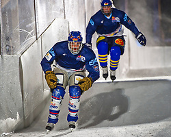 03-02-2012 SKATING: RED BULL CRASHED ICE WORLD CHAMPIONSHIP: VALKENBURG<br /> Andreas Maier GER during a training session<br /> ©2012-FotoHoogendoorn.nl/Peter Schalk