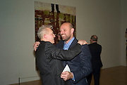 DAVID HARRISON AND  PETER DOIG , Private view and dinner for the opening of the Peter Doig exhibition. Tate Britain. Millbank. London. 4 February 2008.  *** Local Caption *** -DO NOT ARCHIVE-© Copyright Photograph by Dafydd Jones. 248 Clapham Rd. London SW9 0PZ. Tel 0207 820 0771. www.dafjones.com.