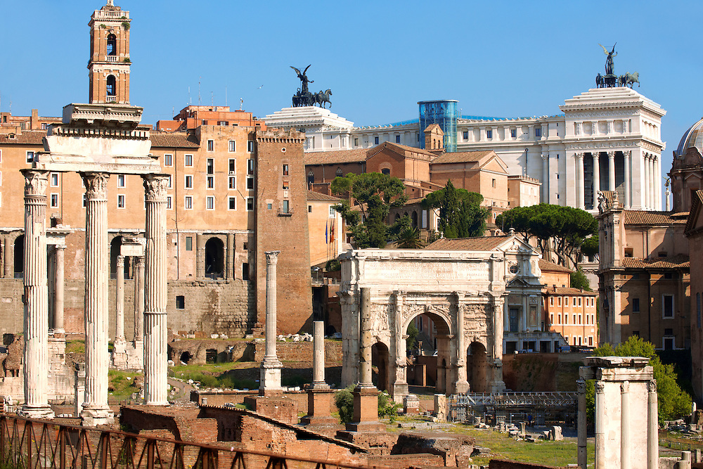 The Forum Rome .<br /> <br /> Visit our ITALY HISTORIC PLACES PHOTO COLLECTION for more   photos of Italy to download or buy as prints https://funkystock.photoshelter.com/gallery-collection/2b-Pictures-Images-of-Italy-Photos-of-Italian-Historic-Landmark-Sites/C0000qxA2zGFjd_k<br /> .<br /> <br /> Visit our ROMAN ART & HISTORIC SITES PHOTO COLLECTIONS for more photos to download or buy as wall art prints https://funkystock.photoshelter.com/gallery-collection/The-Romans-Art-Artefacts-Antiquities-Historic-Sites-Pictures-Images/C0000r2uLJJo9_s0