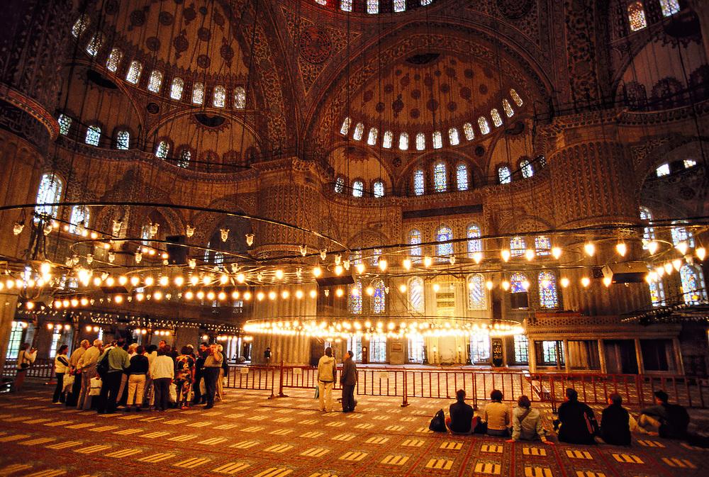 Interior, Blue Mosque, Istanbul, Turkey