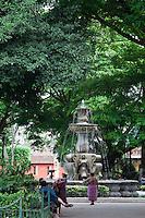 Fountain in Antigua Town Square, Guatemala.