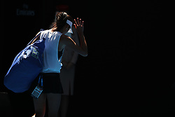 MELBOURNE, Jan. 22, 2018  Hsieh Su-wei of Chinese Taipei leaves the court after the women's singles fourth round match against Angelique Kerber of Germany at Australian Open 2018 in Melbourne, Australia, Jan. 22, 2018. Kerber won 2-1. (Credit Image: © Bai Xuefei/Xinhua via ZUMA Wire)