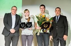 Boro Strumbelj, Sanja Kos, Peter Zidar and Damijan Lazar during Slovenian Disabled Sports personality of the year 2017 event, on December 6, 2017 in Austria Trend Hotel, Ljubljana, Slovenia. Photo by Vid Ponikvar / Sportida